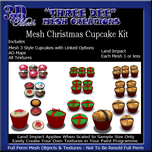 ad for Mesh Christmas Cupcake Kit