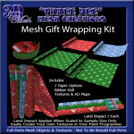 Mesh Gift Wrapping Kit AD Pic